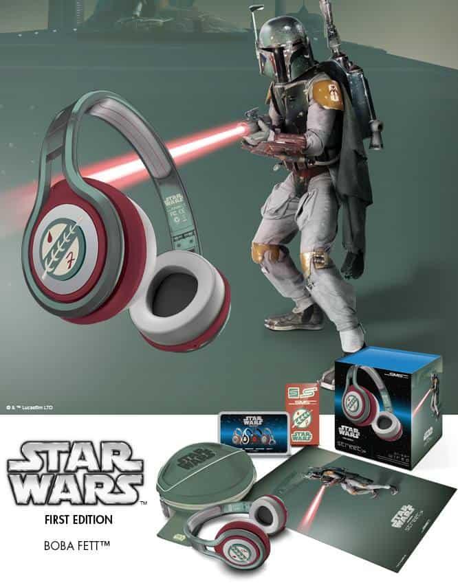 SMS Audio First Edition Star Wars Headphones Boba Fett