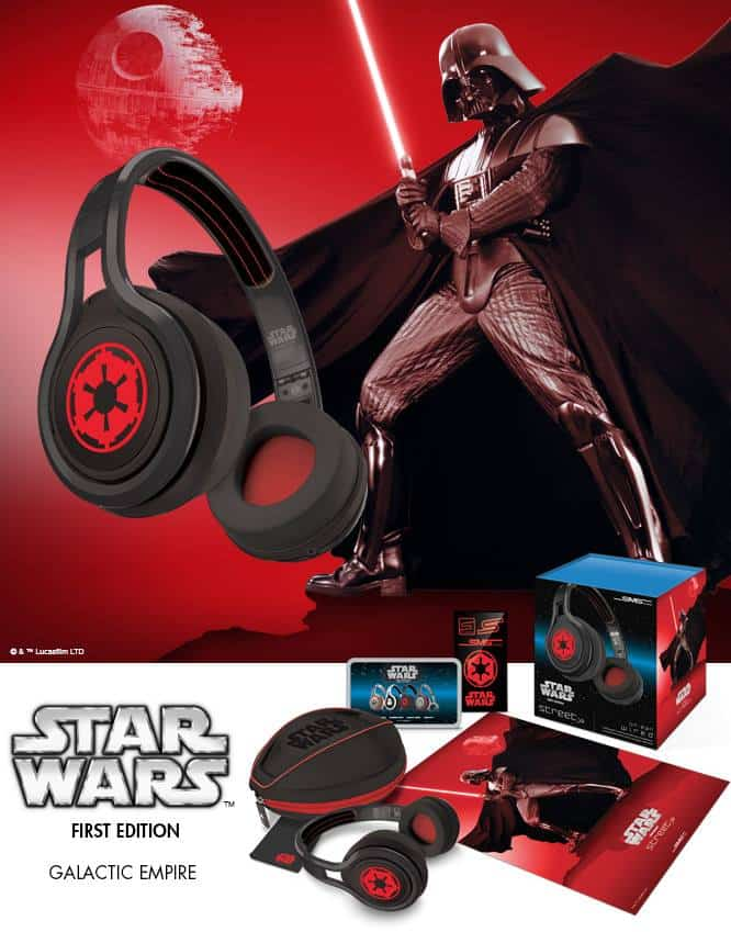 SMS Audio First Edition Star Wars Headphones Galactic Empire
