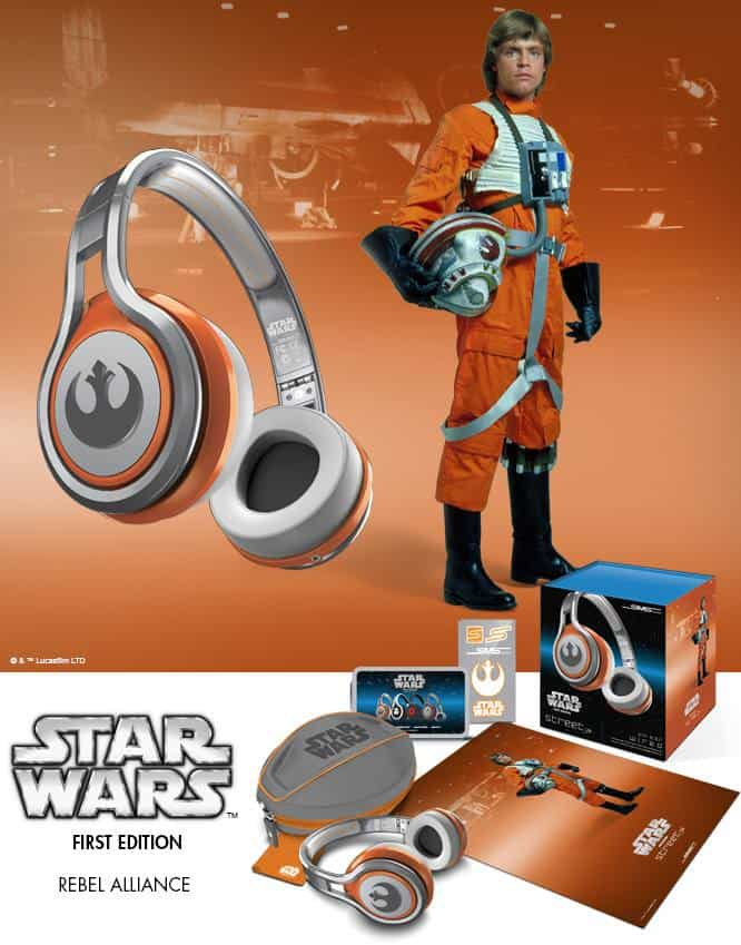 SMS Audio First Edition Star Wars Headphones Rebel Alliance