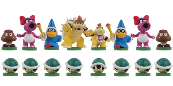 Super Mario Chess Collectors Edition Black Pieces