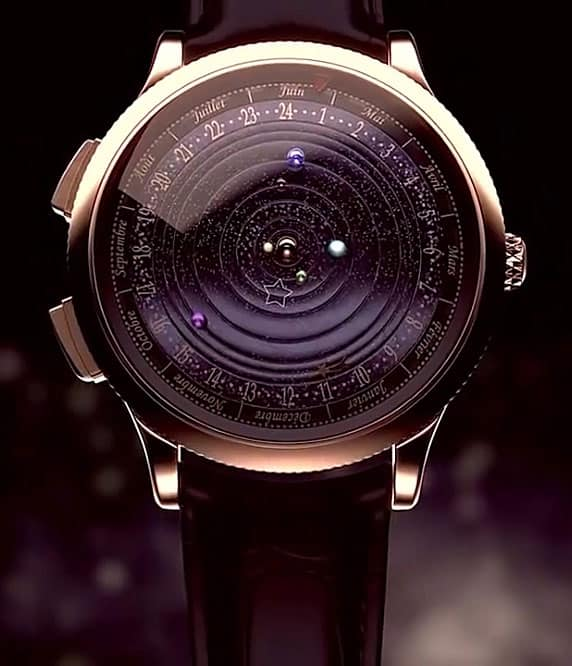 Van Cleefe & Arpels Midnight Planétarium Timepiece Exotic Watch