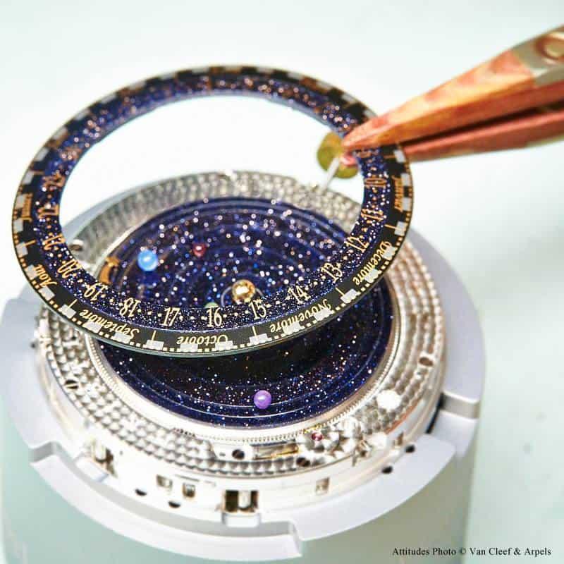 Van Cleefe & Arpels Midnight Planétarium Timepiece Inside