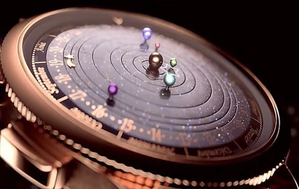 Van Cleefe & Arpels Midnight Planétarium Timepiece Space Related Watch