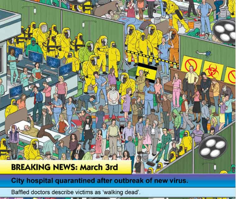 Where is The Zombie Book Sunshade Hospital Quarantine Page