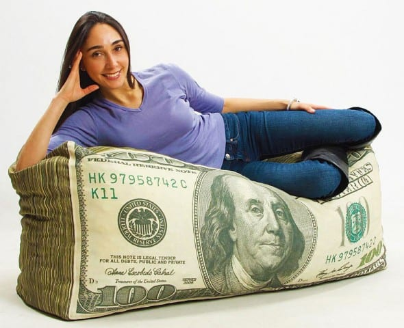 Wow!-Works-Money-Adult-Beanbag-Chair-Cool-Furniture-Dollar-Bill