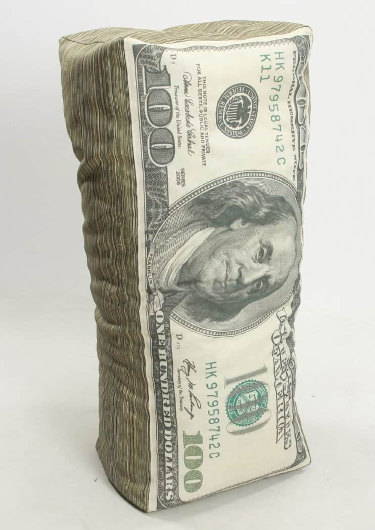 Wow! Works Money Adult Beanbag Chair Hundred Dollar Bill