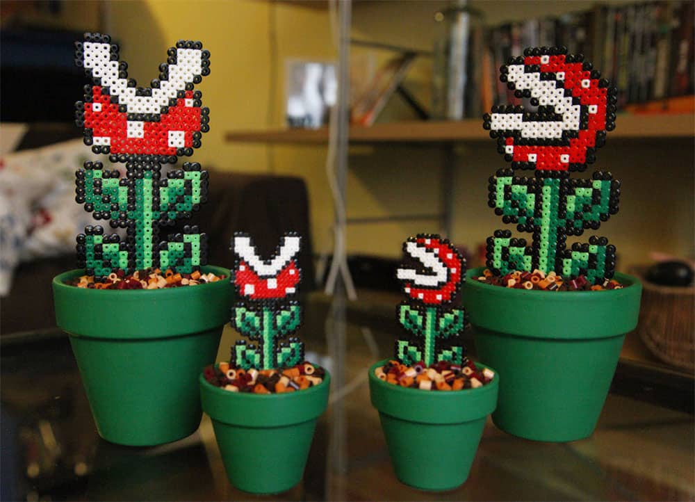 Bead x Bead Super Mario Potted Piranha Plant Cool Geek Stuff to Buy on Etsy