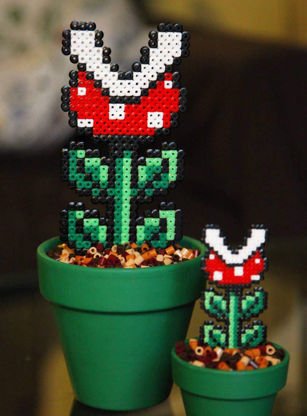 Bead x Bead Super Mario Potted Piranha Plant Green Planter