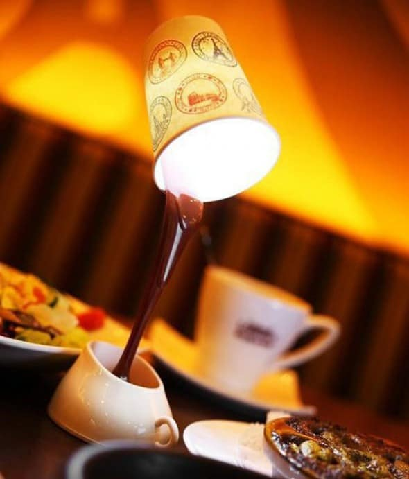 DIY Coffee Cup Table Lamp Cute Stuff to Buy Her