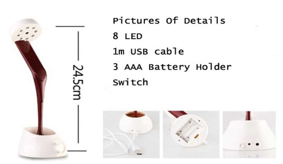 DIY Coffee Cup Table Lamp Specifications