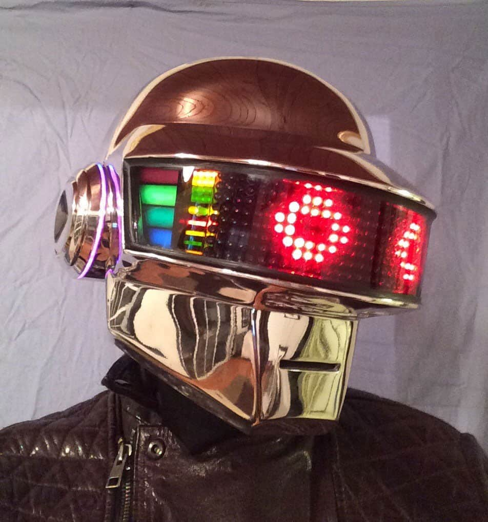 Daft punk guy manuel led helmet noveltystreet wear the helmet and become daft punk or at least half of it get yourself solutioingenieria Gallery