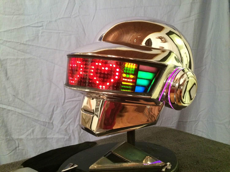 Daft Punk Guy Manuel Led Helmet Handmade Unique Costume