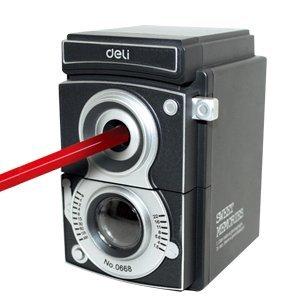 Deli Retro Camera Pencil Sharpener Cool Design