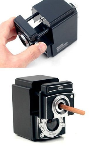 Deli Retro Camera Pencil Sharpener How to Use