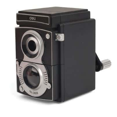 Deli Retro Camera Pencil Sharpener Nostalgic Novelty Item