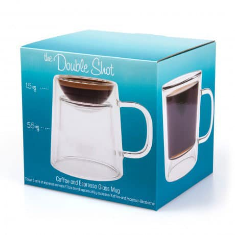 Gamago Double Shot Coffee and Espresso Mug Blue Box