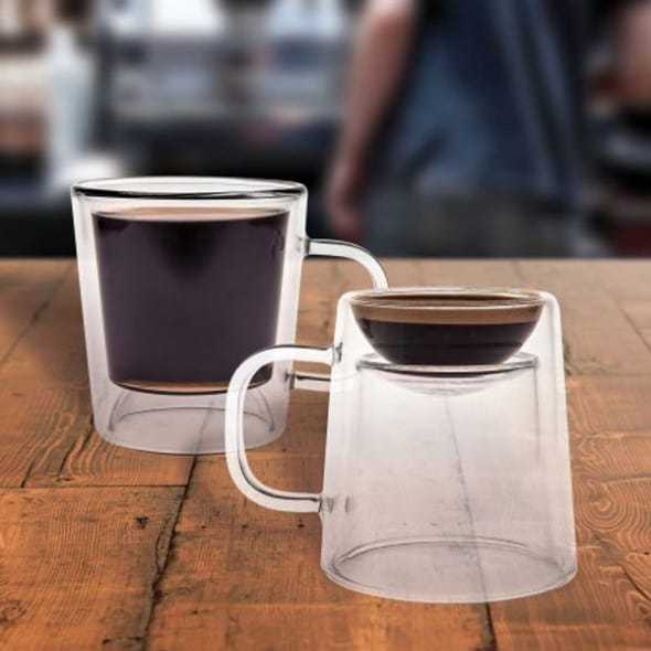 Coffee and espresso in one cup.