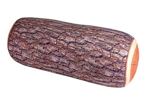 Kikkerland Log Head Rest Wood Pillow
