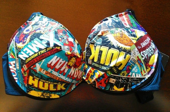 Marvel Comics Inspired Bra Geek Girlfriend Gift Idea