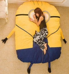 Minion Sleeping Bed Cute Gift for Her