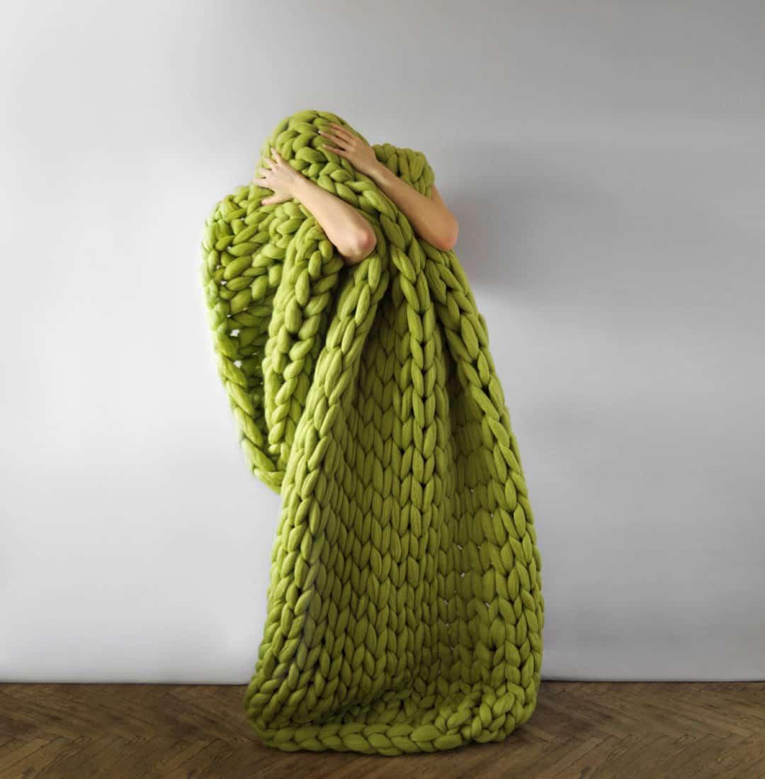 Ohhio Large Green Blanket