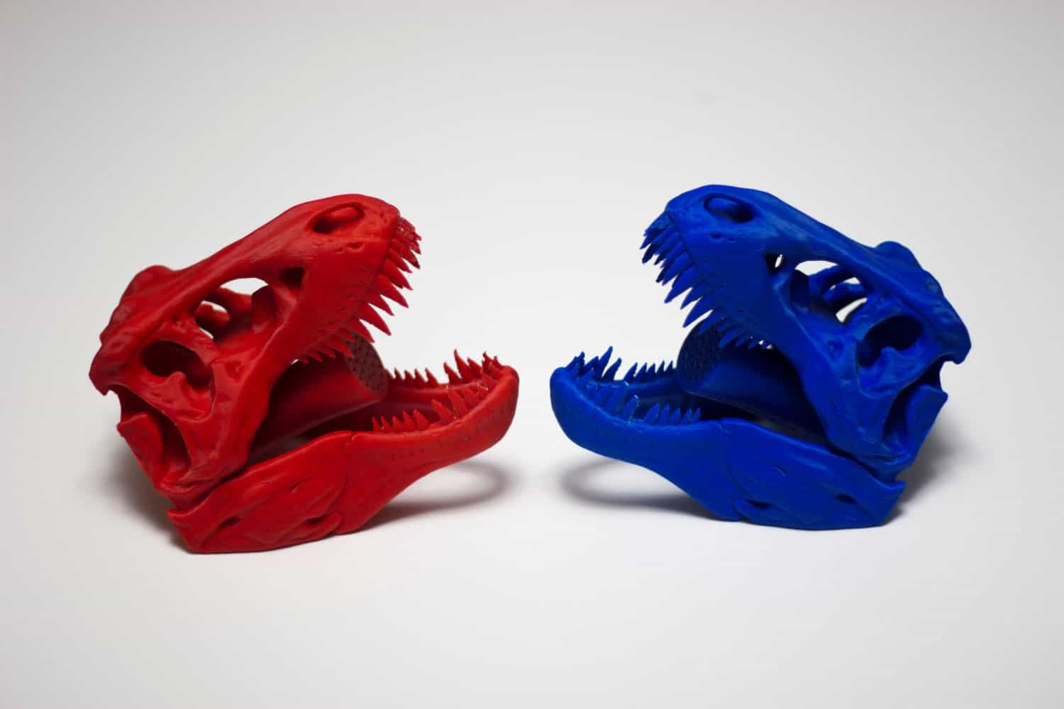Pixel and Print 3D Printed Skull Shower Head Red and Blue