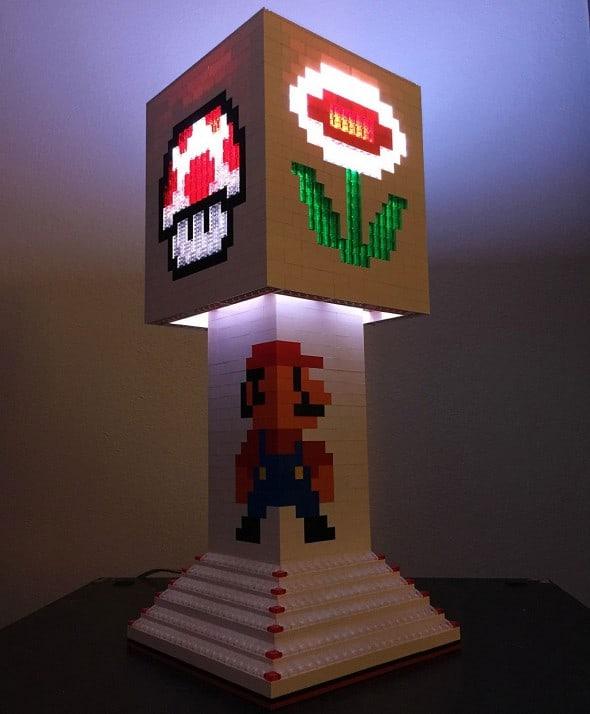 Pugs n Legos Mario Brothers Lego Lamp Geek Dsesign
