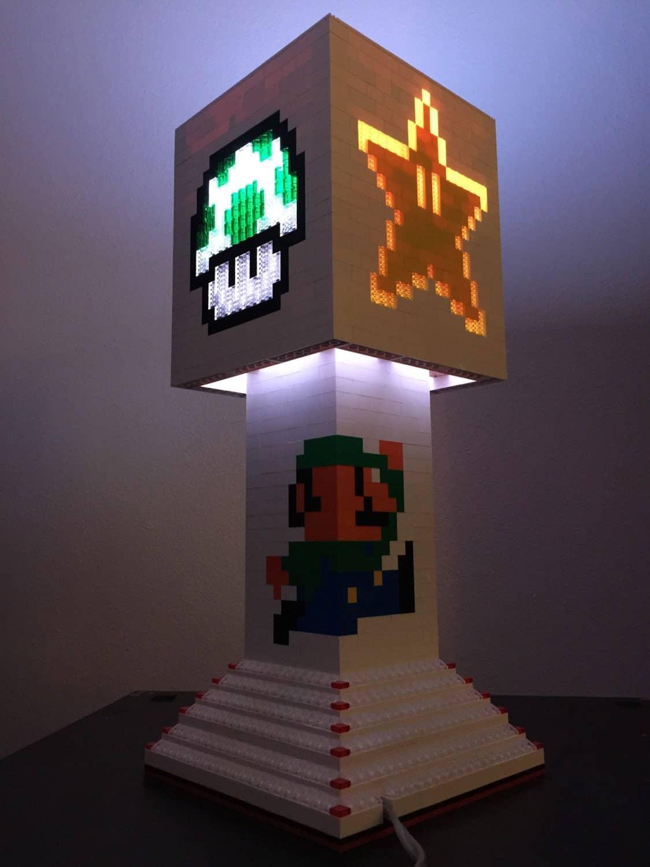 Pugs n Legos Mario Brothers Lego Lamp Luigi Design