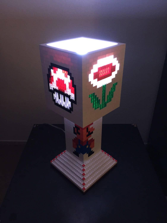 Pugs N Legos Mario Brothers Lego Lamp Noveltystreet