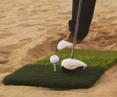 Grassy golf game on any terrain.