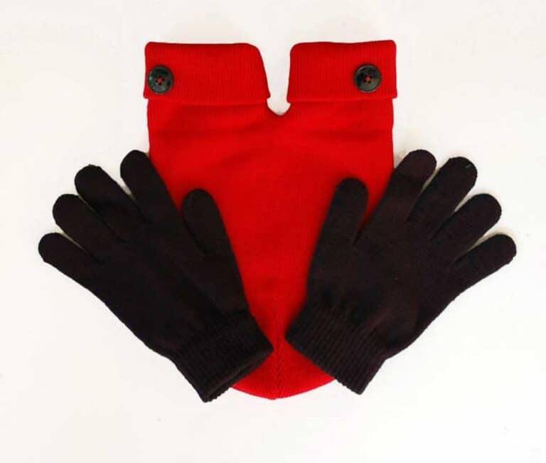 Smitten Couples Mitten with Black Gloves