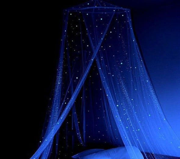 Stella Murals Glow in the dark Star Canopy Romantic Bedroom