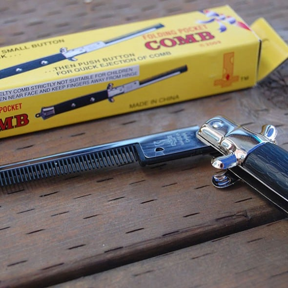 Switchblade Comb Gift Cool to Buy Him