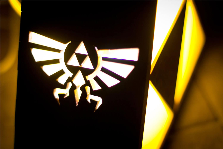 The Back Pack Shoppe Zelda Triforce Lamp Hyrule Crest