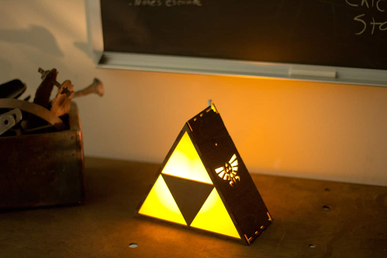 The Back Pack Shoppe Zelda Triforce Lamp Yellow Light