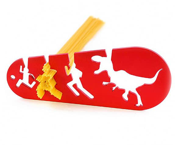 doiy I Could Eat a T-Rex Spaghetti Noodle Pasta Measurer Running Woman