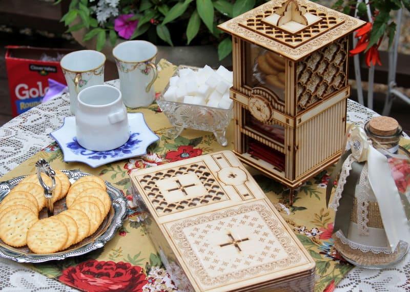 1Man1Garage The Carlyle Tea Box And Cookie Jar DIY Kit