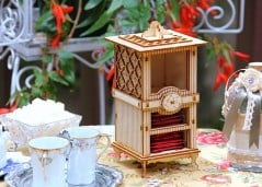 Fancy tea box for a fancy tea party.