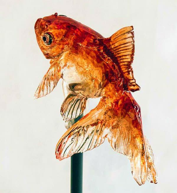 Ameshin Realistic Animal Lollipops Gold Fish