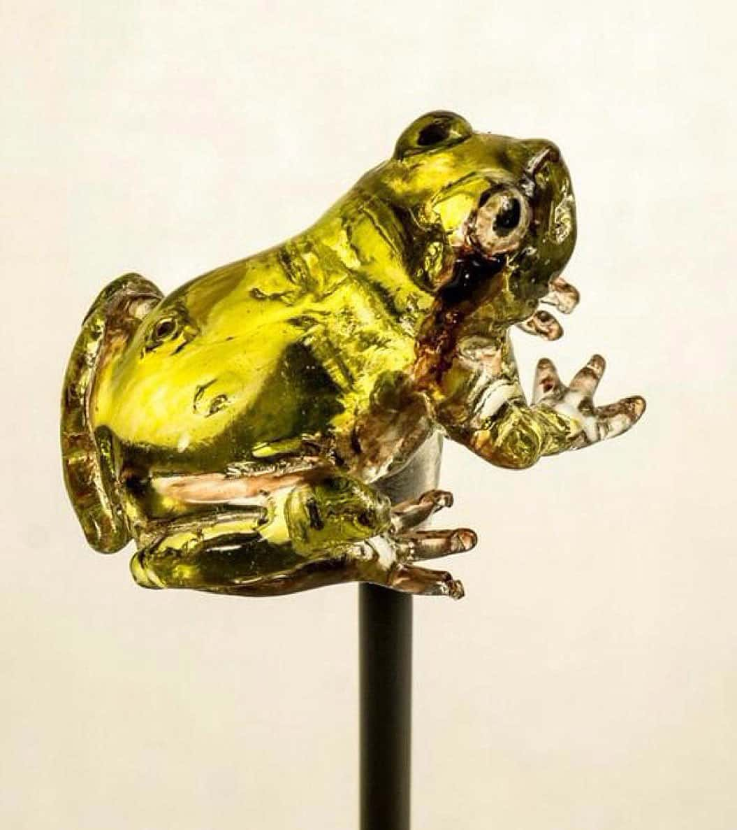 Ameshin Realistic Animal Lollipops Yellow Frog