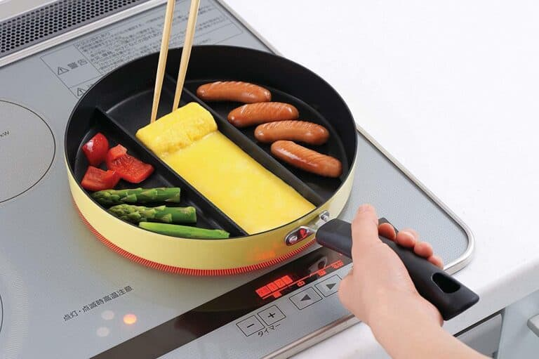 Arnest Three Section Nonstick Frying Pan Japanese Invention