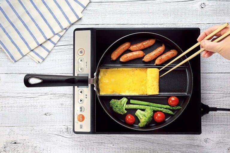 Arnest Three Section Nonstick Frying Pan Unique Kitchen Gadget