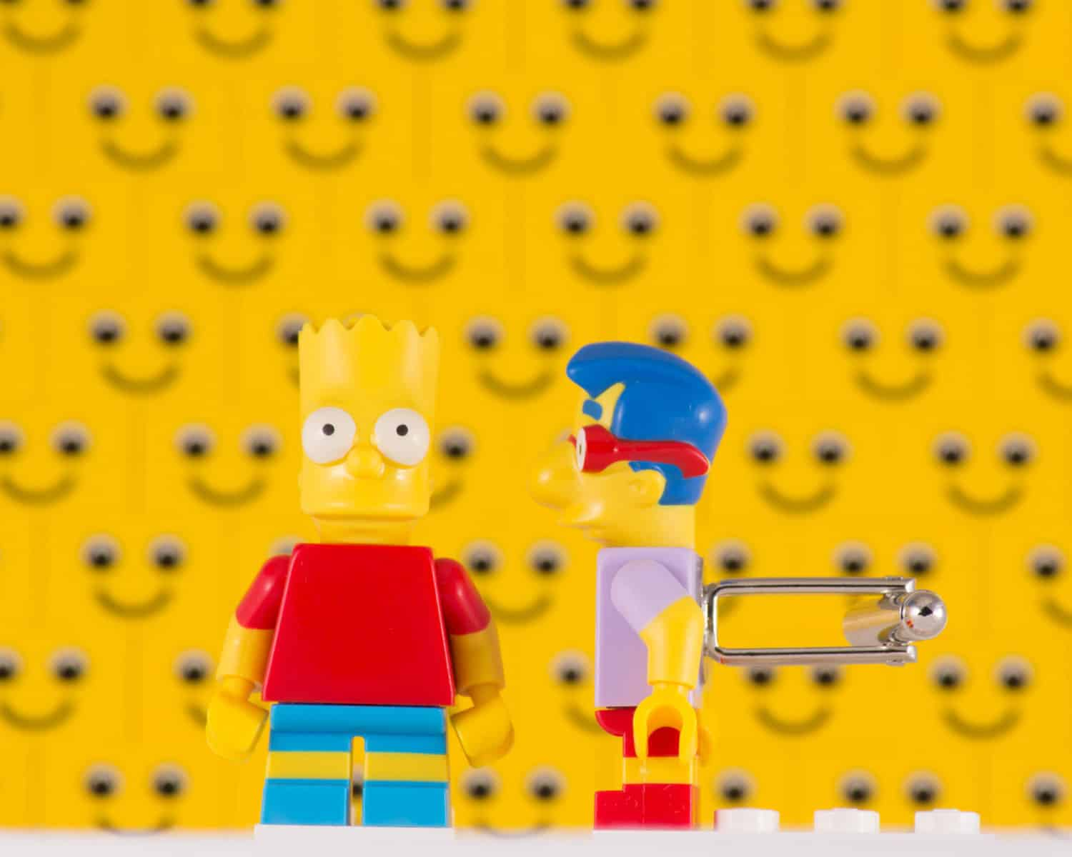 Bart and Millhouse Simpsons Lego Cufflinks Cool Gift to Buy Him