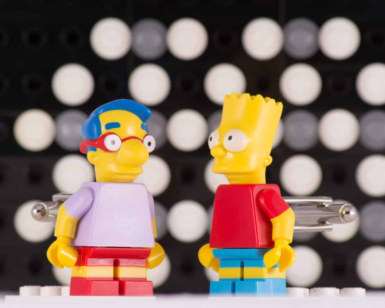 Bart and Millhouse Simpsons Lego Cufflinks Playful Fashion