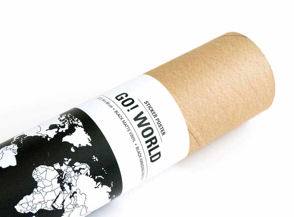 Bold Tuesday Go World Sticker Poster Cool Product Packaging