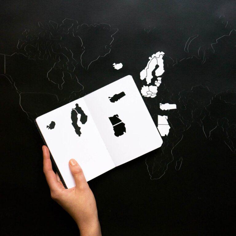 Bold Tuesday Go World Sticker Poster Travel Journal Map