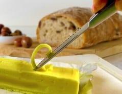 Three ways to spread butter.