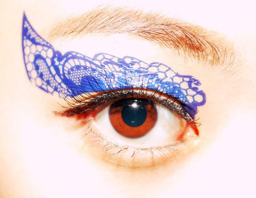 CCL Store  Temporary Tattoo Sticker Eye Makeup Eyeshadow Blue