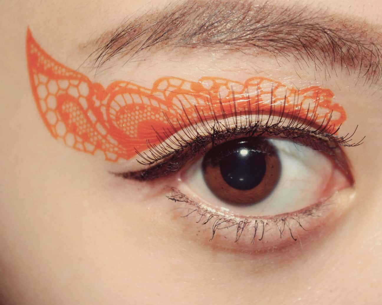 CCL Store  Temporary Tattoo Sticker Eye Makeup Eyeshadow Orange