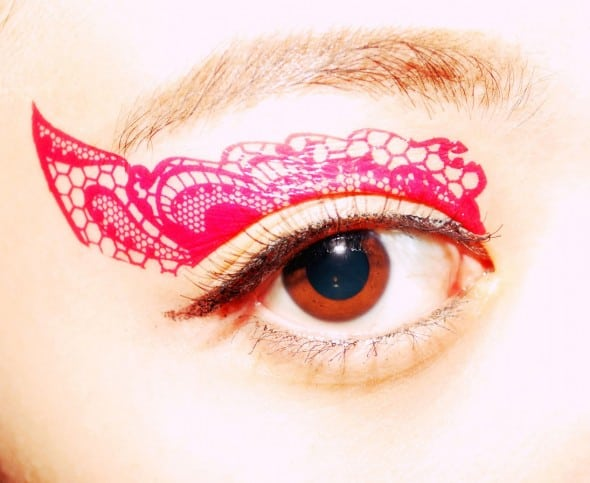 CCL Store Temporary Tattoo Sticker Eye Makeup Eyeshadow Pink